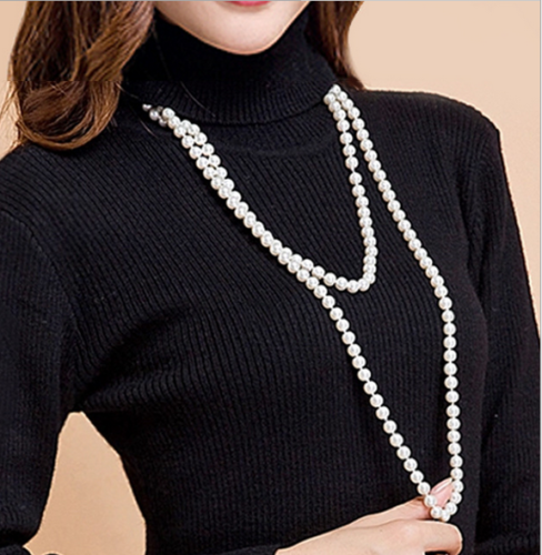 Beautiful NEW Natural 8-9mm south seas white pearl necklace 45 silver clasp Beautiful NEW Natural 8-9mm south seas white pearl necklace 45 silver clasp