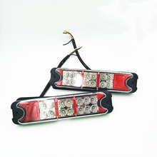 купить 1 Pair LED Rear Trailer Tail Lights Truck Rear Taillight Stop Brake Light Reverse Lamp for 12V Forklight Truck Trailer дешево