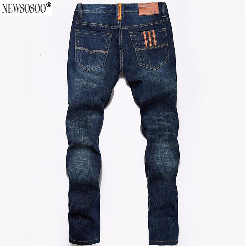 Newsosoo fashion cotton classic denim jeans straight Thin models Europe and America men jeans  young long jeans brand male MJ21 цены онлайн