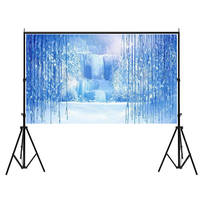 Mayitr 1pc 7x5ft Ice Frozen Backdrop World Photography Background Studio Photo Props For Digital Camera