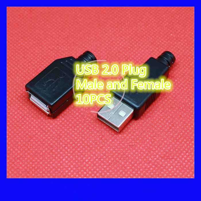 10PCS/LOT YT2151  USB 2.0 Male/Female connector  plug  welding  Data OTG line connector  DIY accessories  Free shipping 1pcs lot md6f line md6 female mouse and keyboard to 4p terminal line 50cm