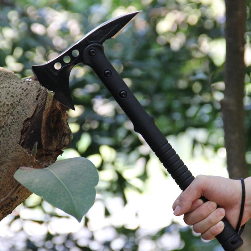 Axt Unter Der Voraussetzung Zweischneidiges Ax Kopf Multi Funktion Eis Axt 56hrc Hohe Härte Edelstahl Spaltung Hatchet Tomahawk Camping Werkzeuge Werkzeuge