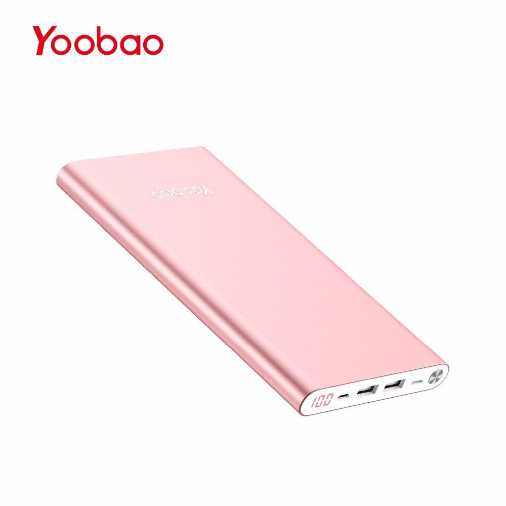 A2 de Yoobao 20000 mAh Banco Universal de la Energía Dual USB de Salida/Entrada