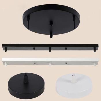 Wiele rozmiarów DIY lampa sufitowa podstawa baldachim płyta Multi otwory żyrandole oprawy oświetleniowe okrągłe prostokątne akcesoria oświetleniowe tanie i dobre opinie nbibde Podstawy lamp 2 Years CP-1901 iron