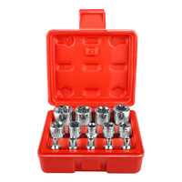 14pcs Torx Socket Star shaped Set 1/4'' 3/8'' 1/2'' Drive E4 E24 Wrench Head Hexagonal Spanner Allen Auto Repair Hand Tools