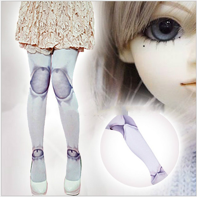Princess sweet lolita pantyhose Ball joint tights sphere joint dolls hose Gothic goths HARAJUKU spank romper lkw4-3