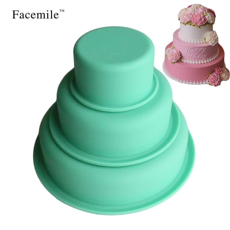 Facemile 3 izmēra diy silikona dāvanu veidnes lieliem apaļiem - Virtuve, ēdināšana un bārs
