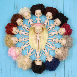 ICY Nude Mini Blyth Doll Afro hair style many kinds of hair colors clothes random BJD