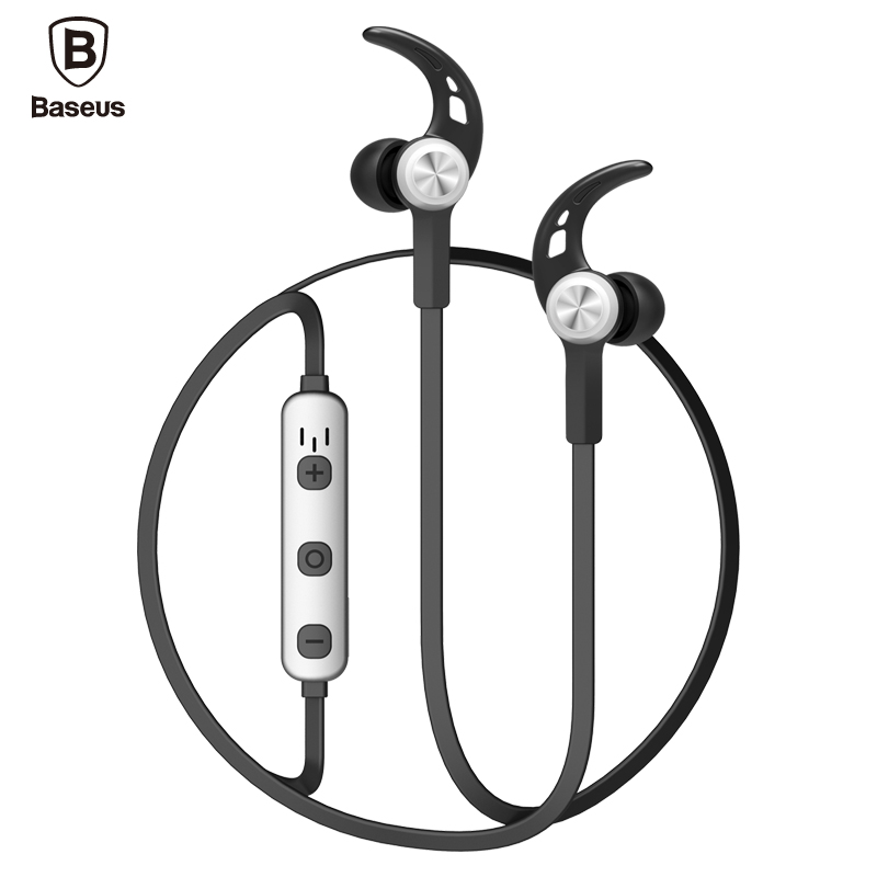 Baseus wireless bluetooth earphone Metal Heavy Bass Sound headset Magnetic neckband sport headphone fone de ouvido bluetooth bluetooth earphone headphone for iphone samsung xiaomi fone de ouvido qkz qg8 bluetooth headset sport wireless hifi music stereo