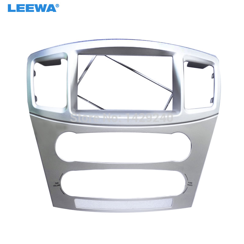 LEEWA Car refitting DVD frame DVD panel Dash Kit Fascia Radio Frame Audio frame for 2010 MITSUBISHI GALANT 2 DIN #CA2354 2 din car refitting frame panel for jaguar s