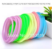High Quality Fashion Fluorescent Color Super Elastic Whorl Candy Bracelet Hair Ring Rope Headwear Wholesale