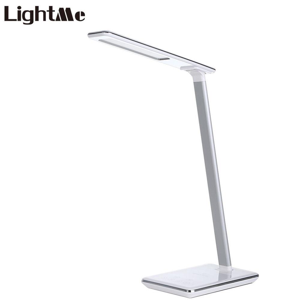 Concise Style Pliage LED Lampe de Bureau Lampe De Table Tactile Lampe À Induction 5 v 2.5A Protection Des Yeux Sans Fil Moderne USB Sortie chargeur