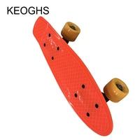 Fish Long Board Children Skateboard For Beginner Baby And Kids PU 4wheels Glow Outdoor Sports Bodybuilding