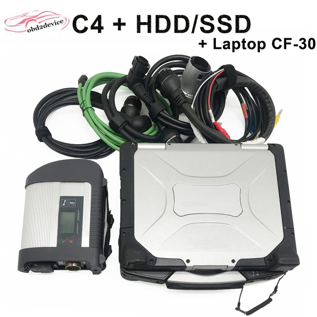 Special Price Car Scanner MB STAR C4 with Newest Diagnostic Software 2018.09 HDD/SSD with Laptop CF-30 Online and Offline Code Programming