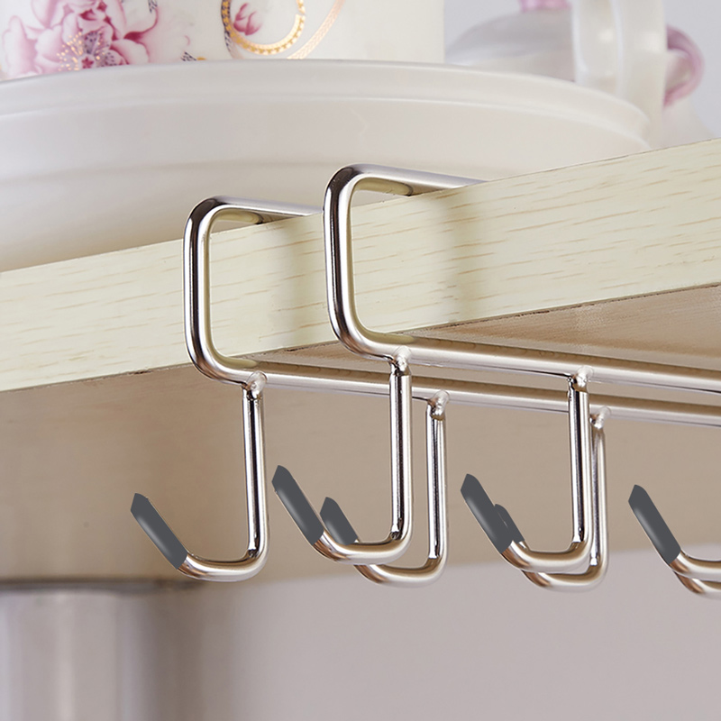 Stainless Steel Kitchen Storage Rack Cupboard Hanging Hook Shelf Dish Hanger Storage Shelf TN88