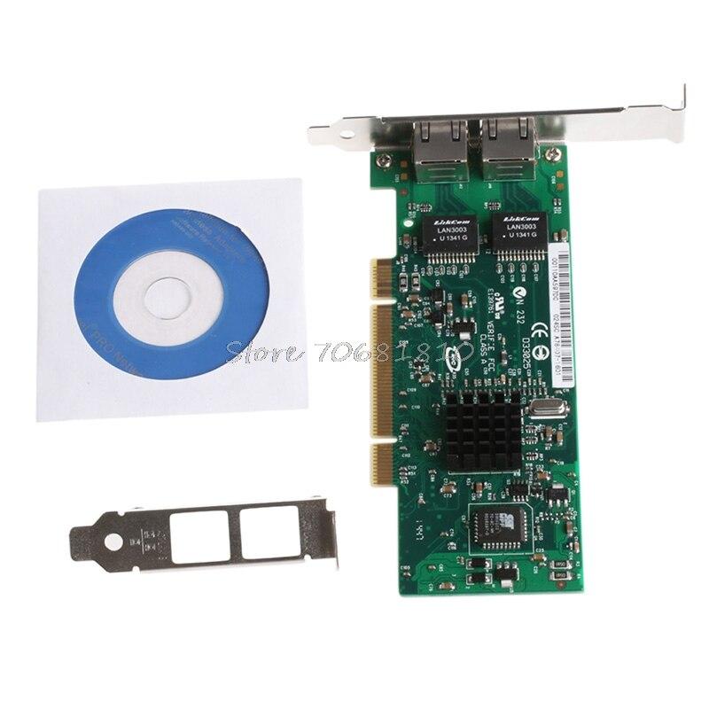 PCI Dual RJ45 Port Gigabit Ethernet Lan Network Card 10 100 1000Mbps For Intel 82546 R179