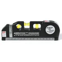 Многоцелевой лазерный уровень лазерной измерительной линии измерительная лента Линейка Отрегулированная стандартные и метрические линейки