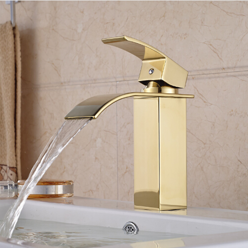 Luxury Gold Plated Bathroom Vessel Sink Faucet Single Handle Mixer Tap