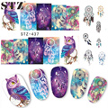 1 Sheets 2016 Hot Selling Owl Bells DIY Full Stamp Nail Sticker Women Sexy Cute Watermark DIY Polish for Nail Decals STZ437/8