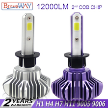 BraveWay LED Light Bulbs for Car Headlight H11 Light font b Lamp b font H1 H7