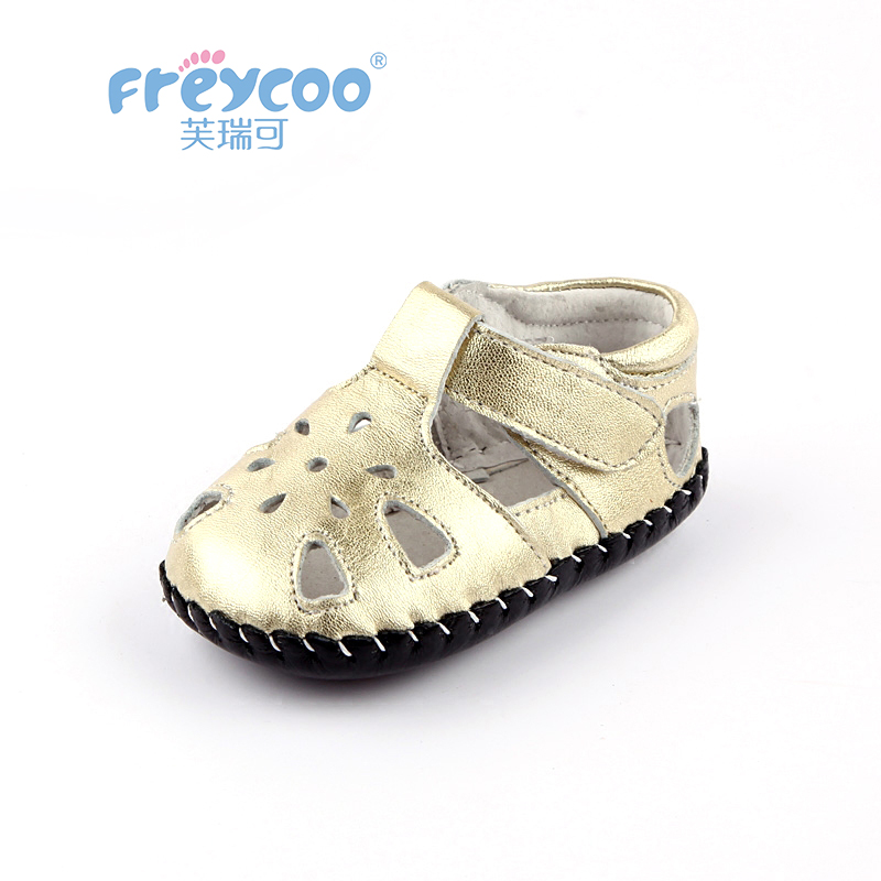 Freycoo 2019 New Summer Kids Shoes Baby Toddler For Girls Cowskin Genuine Leather 0-1 Years 1171