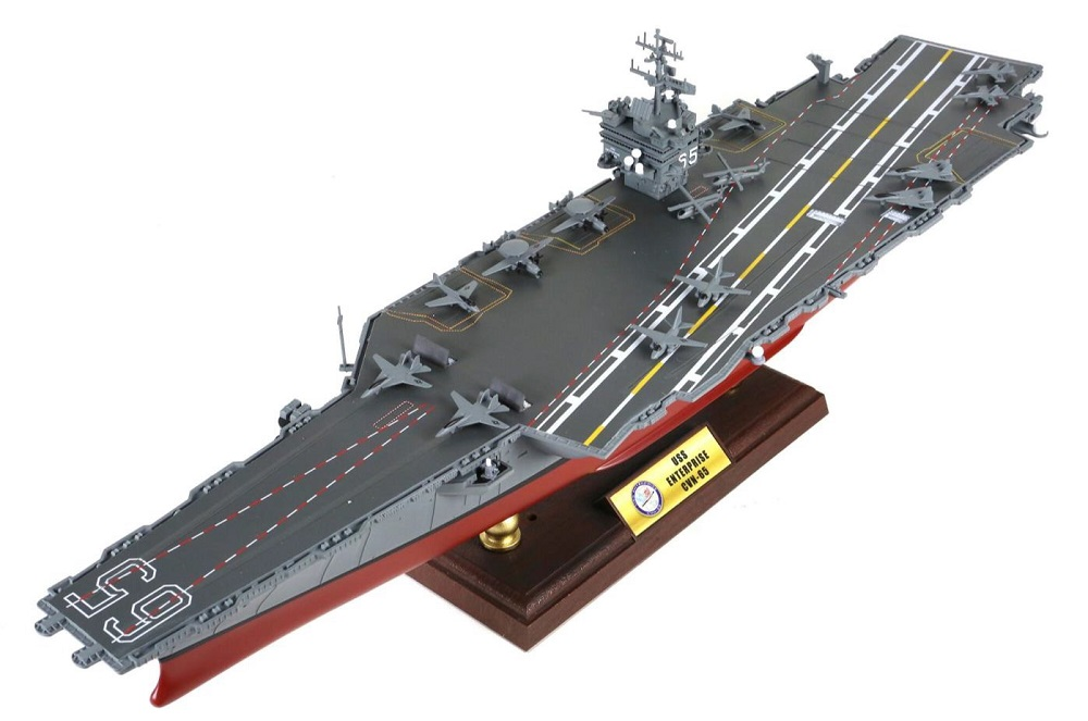 FOV 1/700 Scale Military Model Toys USS Enterprise CVN-65 Aircraft Carrier Diecast Metal Warship Model Toy For Collection trumpeter 03705 uss missouri bb 63 battleship 1 200 scale warship model
