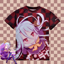 Japanese Anime No Game No Life Shiro T-shirt Polyester T Shirt Summer Active Animation Men Women Clothing