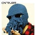 2015 Latest Trends Novelty Handmade Knitting Wool Funny Beard Octopus Hats Caps Crochet knight Beanies Unisex Gift Free Shipping