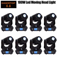 Gigertop TP L680 180W High Power Led Moving Head Light Gobo Spot Effect Support Logo Project Function Smooth Pan/Tilt Move x 8