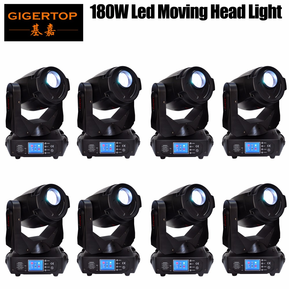 Gigertop TP-L680 180W High Power Led Moving Head Light Gobo Spot Effect Support Logo Project Function Smooth Pan/Tilt Move x 8