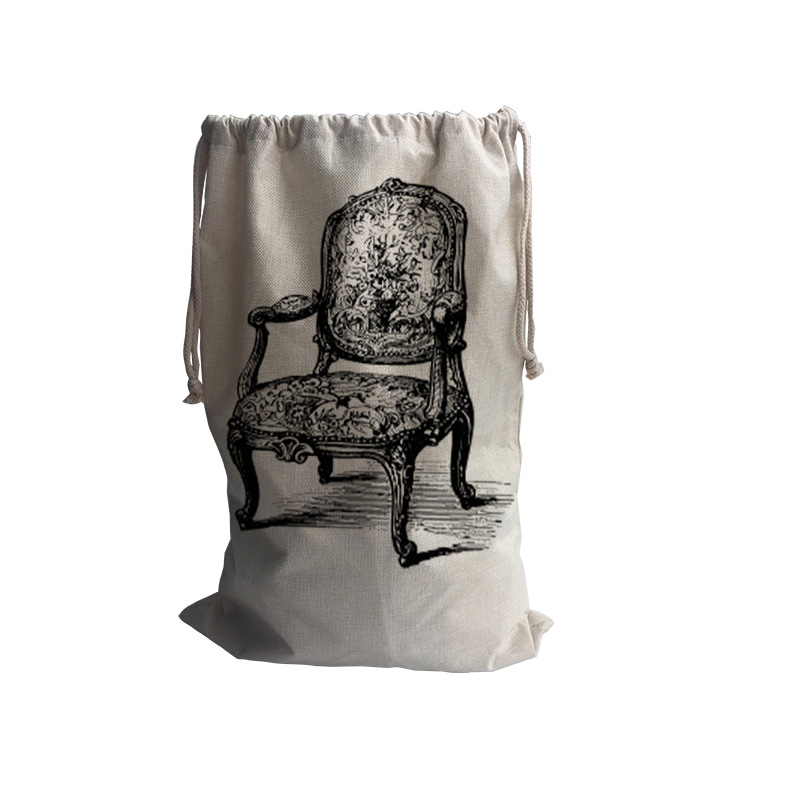Chair Pattern Handbag,baby Kids Toy Clothes Canvas Laundry Basket Storage  Bag With Leather Handles