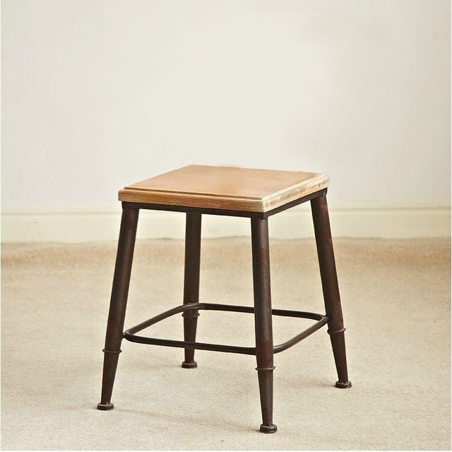 Cheap American Country Wrought Iron Bar Chairs Creative Retro Wood Chair  Lounge Chair Chair Armchair Fashion