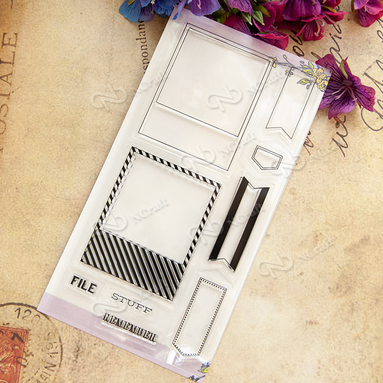File box Transparent Clear Silicone Stamp/Seal for DIY scrapbooking/photo album Decorative clear stamp sheets lovely elements transparent clear silicone stamp seal for diy scrapbooking photo album decorative clear stamp sheets
