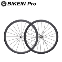 BIKEIN Ultralight 700C 3k Carbon Fiber Road Wheelset Cycling Bicycle Clincher Tubular Wheels 50mm Depth Rim