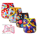 Baby Nappies Cloth Diaper Cover Reusable Diapers Waterproof Diaper Happy Flute Newborn Washable Nappies Leakproof Packet Diapers