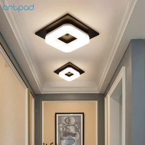 Image 2 - Artpad 12 واط الحديثة مصباح LED للسقف التيار المتناوب 110 فولت 220 فولت ضوء السقف لمطعم فندق الممر الممر شرفة تركيبة إضاءة