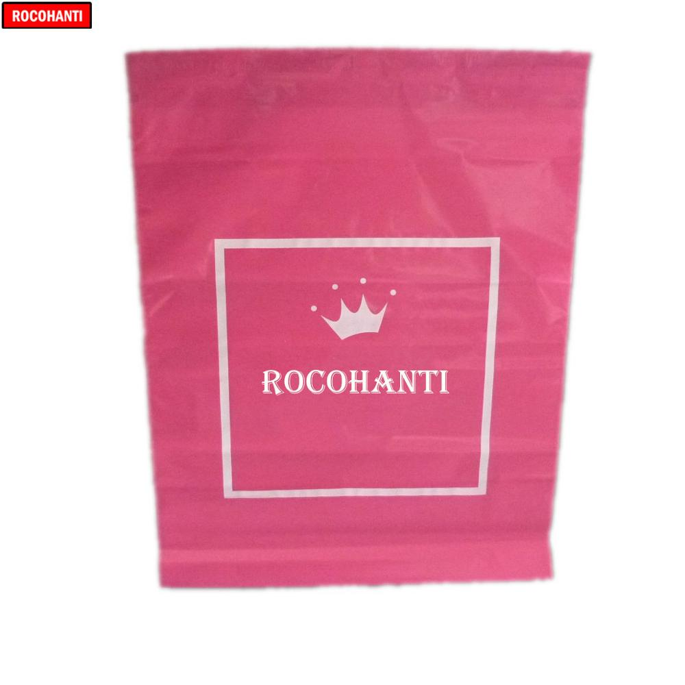 100x Custom Pink Color Plastic Mailing Bags Printed Poly Mailer Shipping Courier Bag Shopping Bags With Your Own Logo