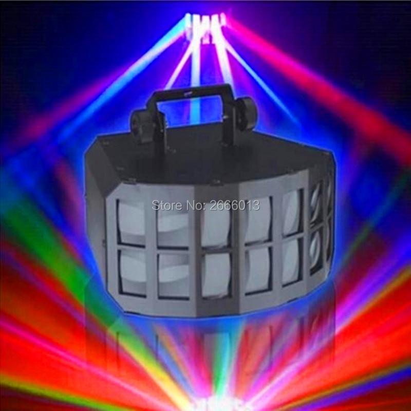 Niugul Amazing RGBW 4IN1 2x10W Professional KTV Bar Club Party Wedding DMX Stage Lighting LED Double Butterfly DJ Disco Lights