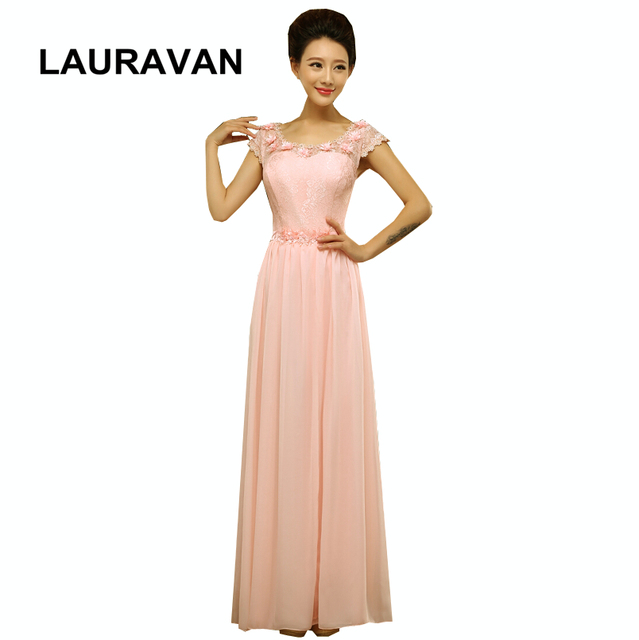 formal long elegant pink peach custom made bridesmaid gown party dinner  dresses gowns dress occasions for women free shipping fbc0e4c0325a