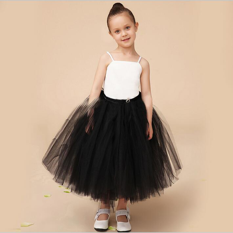 все цены на Satin Flower Girls Dresses for Wedding White A-Line Girl Dresses for 2-12 Year Olds for Sleeveless Tulle Mother Daughter Dresses онлайн