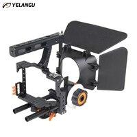 YELANGU Universal DSLR Rig Shoulder Video Camera Stabilizer Cage Matte Box Follow Focus For Canon Nikon