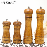 4PCS Pepper Grinder 5,8,Inch Manual Wooden Cruet Pepper Mill Condiment Kitchen Oak Grinder Pepper Grinder Spice Milling Machine