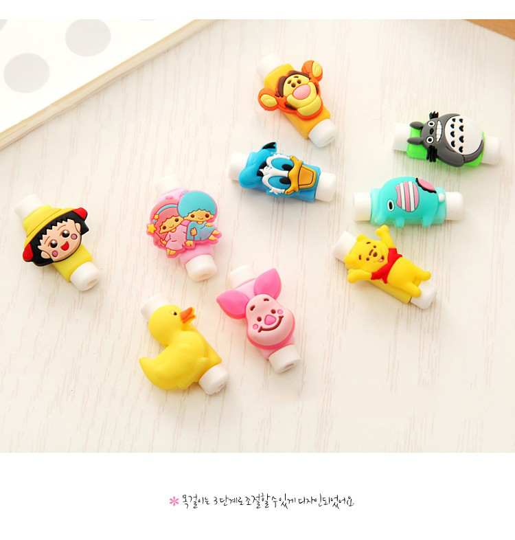 2019 Cute Cartoon Figure USB Data Cable Chompers Line Protector Charging Earphone Animal