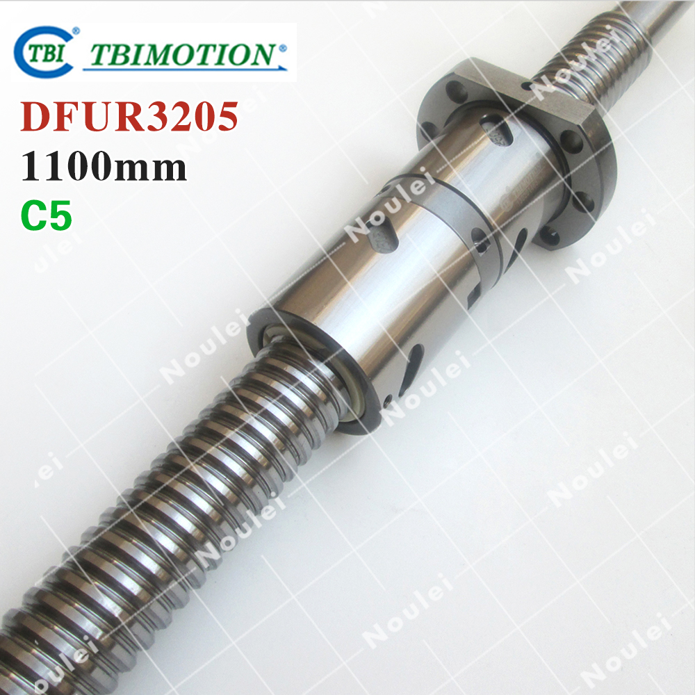 TBI 3205 C5 1100mm ball screw 05mm lead with DFU3205 ballnut + end machined for CNC diy kit DFU set горелка tbi 240 5 м esg