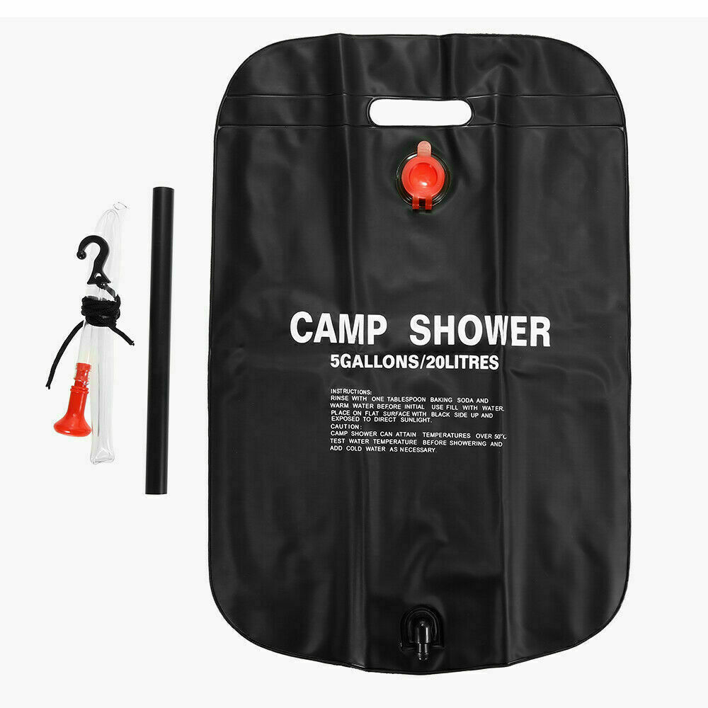 20L Water Shower Bag Solar Energy Portable Foldable Heated Outdoor Camping PVC Water Bag Travel RV Caravan Tools