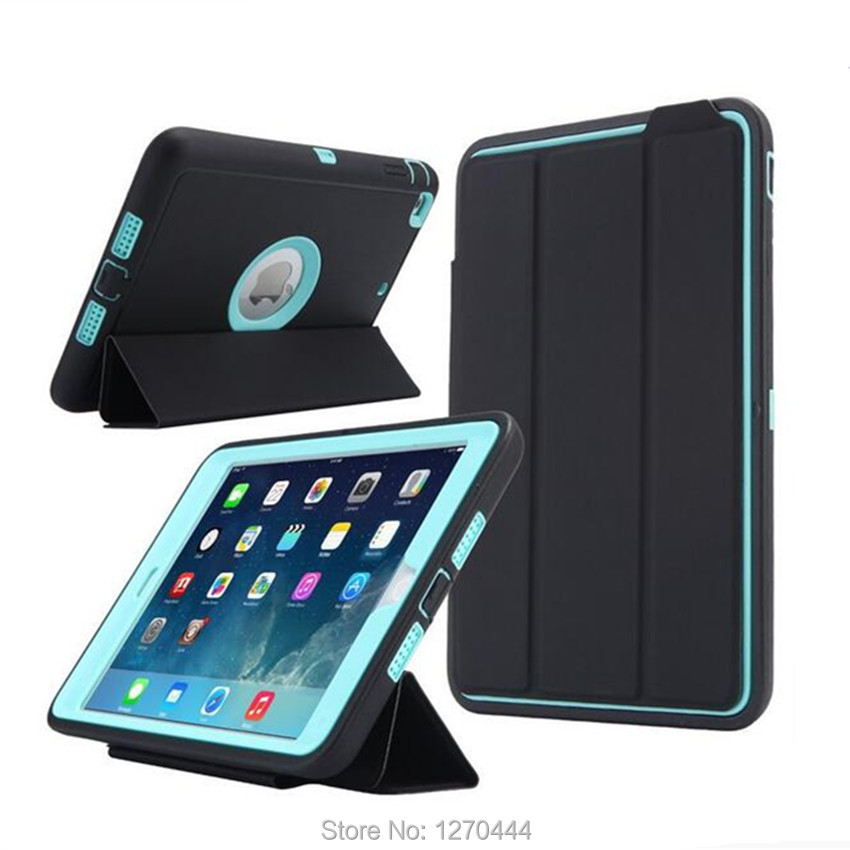 Case For Apple Ipad Mini Case 1 2 3 Kids Safe Shockproof Heavy Duty PC Hard Cover For Ipad Mini 2 Cover Funda Tablet Stand Shell