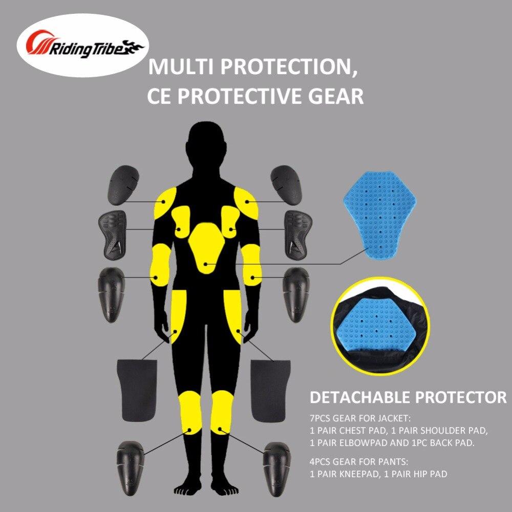Hommes Moto veste + Moto pantalon ensemble printemps été respirant maille veste Moto pantalon costume vêtements de protection - 5