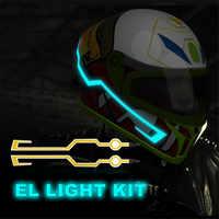 Motorrad Helm EL Licht Mod Kit Tron Helme Lichter Modus DIY Einfach Installieren