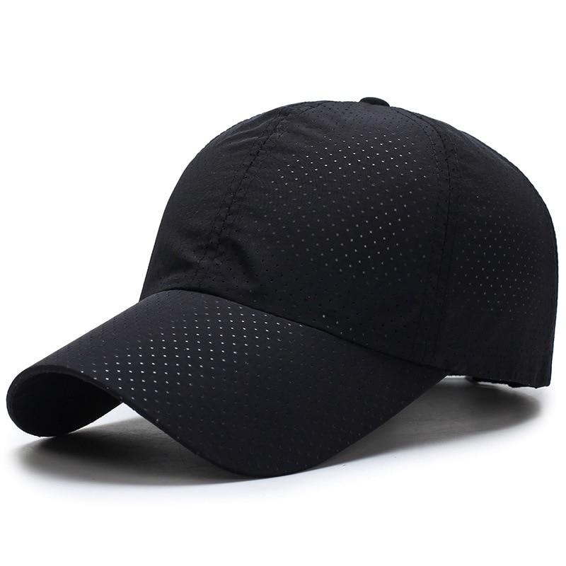 2019 Ultra-slim Quick-drying Fabric Women Man Summer  Quick Dry Mesh Cap Running Hat Bone Women's Breathable Hats