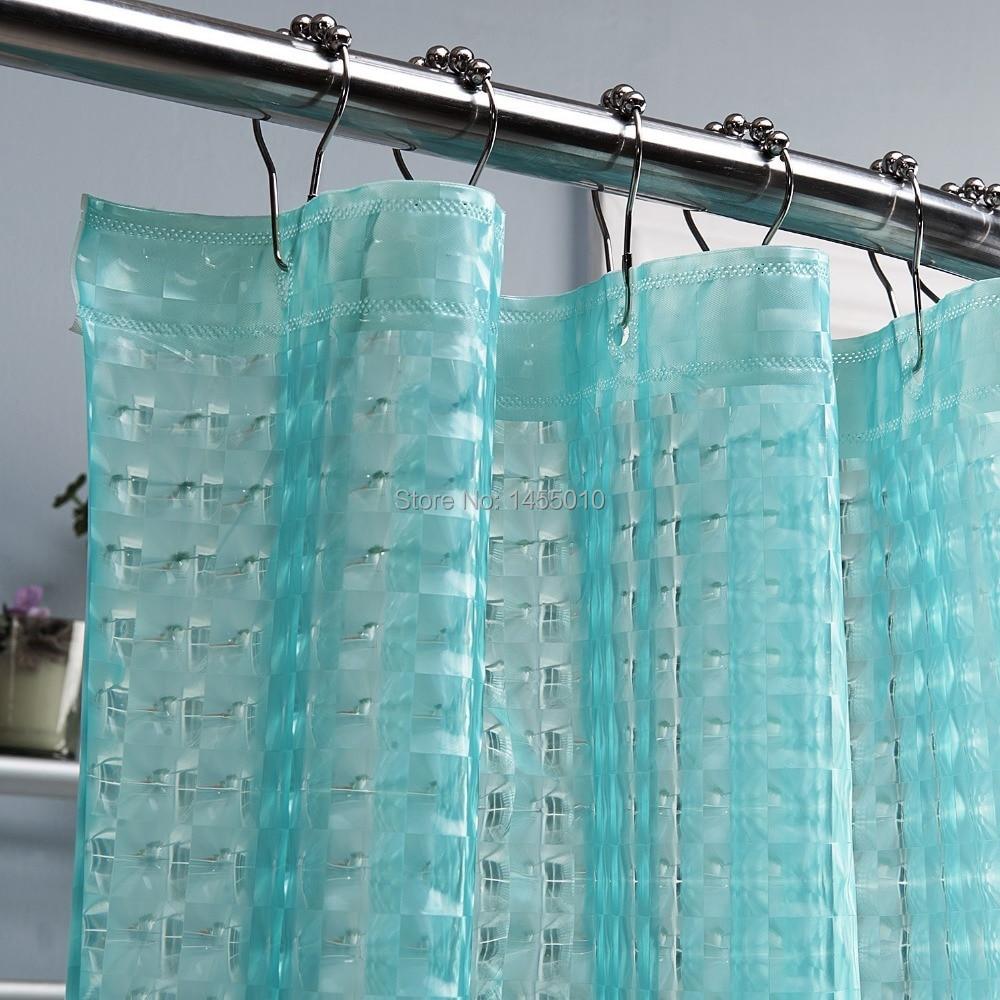 Happy Tree PEVA 3D Translucence Waterproof Shower Curtain Thicken Plastic Bathroom Curtain Water Cube 3D Bath Curtain.